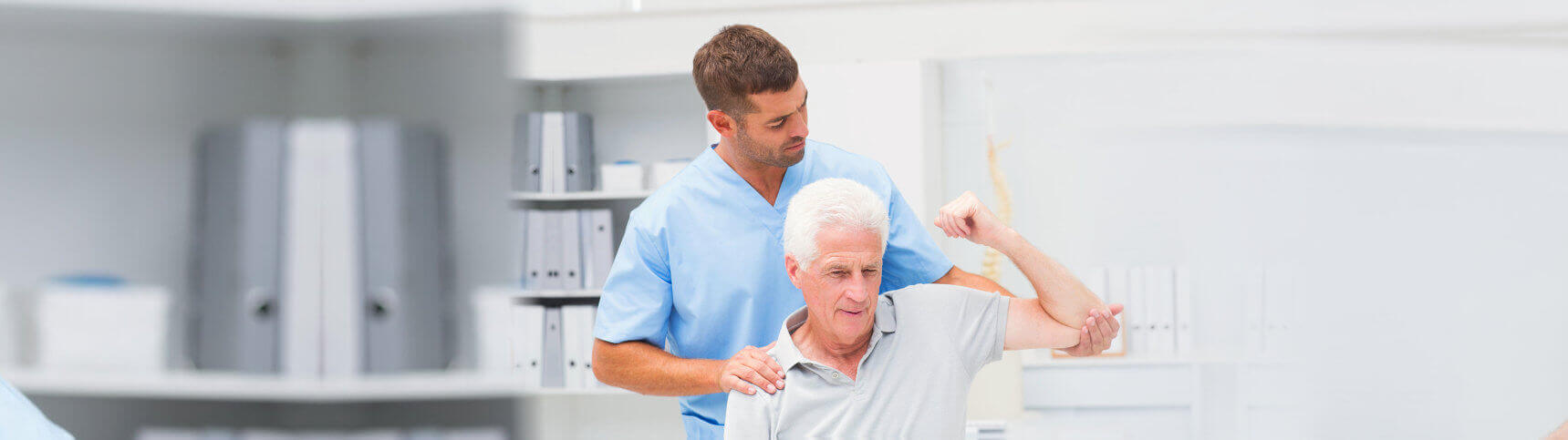 old man doing physical therapy